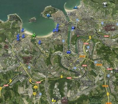 Mapa de la RECSI
